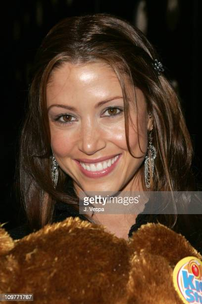 Shannon Elizabeth during Motorola's Seventh Anniversary Party to Benefit Toys for Tots Red Carpet at American Legion in Los Angeles California United...