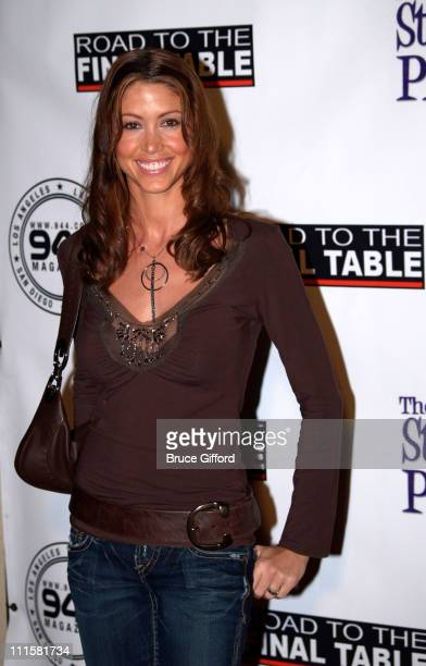 Shannon Elizabeth during Poker for Katrina Relief Red Carpet at The Day After in Hollywood California United States