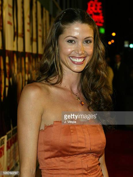 Shannon Elizabeth during 'Runaway Jury' Los Angeles Premiere Red Carpet at Cinerama Dome in Hollywood California United States