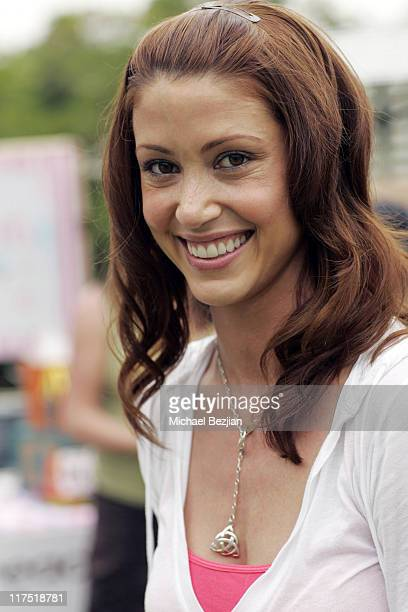 Shannon Elizabeth during Silver Spoon Dog and Baby Buffet Day 1 at Private residence in Hollywood California United States Photo by Michael...