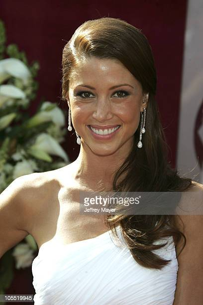 Shannon Elizabeth during The 57th Annual Emmy Awards Arrivals at Shrine Auditorium in Los Angeles California United States