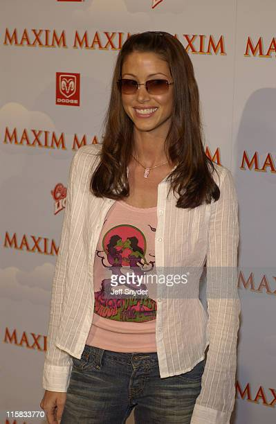 Shannon Elizabeth during The Maxim Party at Super Bowl XXXVII at The Old Wonderbread Factory in San Diego CA