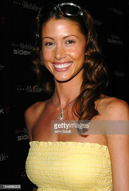 Shannon Elizabeth during 'TMobile Sidekick II' Launch Party Red Carpet at The Grove in Los Angeles California United States