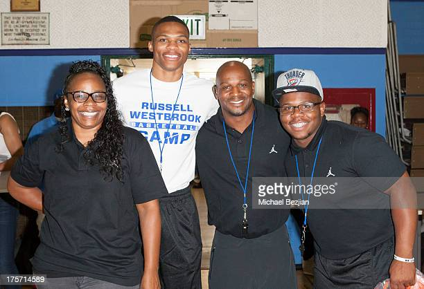 Shannon Horton Russell Westbrook Russell Westbrook Sr and Raynard Westbrook attend Russell Westbrook Why Not Basketball Camp at Jesse Owens Community...