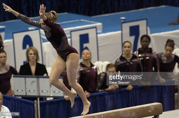 Shannon Hrozek of Alabama in action during the 2004 NCAA Championship Team Finals at Pauley Pavilion in Westwood California April 16