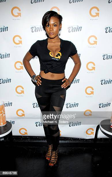 Shannon Janai attend Vain Magazine's Beauty vs The Beast Charity Bartending Competition at Ella Lounge on August 6 2009 in New York City