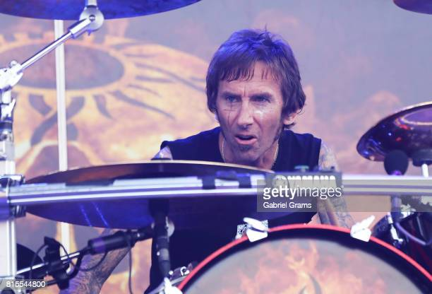 Shannon Larkin of Godsmack performs during the 2017 Chicago Open Air Festival at Toyota Park on July 15 2017 in Bridgeview Illinois