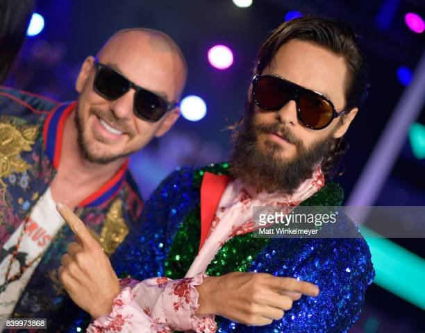 Shannon Leto and Jared Leto of musical group Thirty Seconds to Mars attend the 2017 MTV Video Music Awards at The Forum on August 27 2017 in...