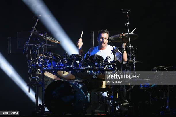 Shannon Leto of 30 Seconds To Mars performs at Susquehanna Bank Center August 15 2014 in Camden New Jersey