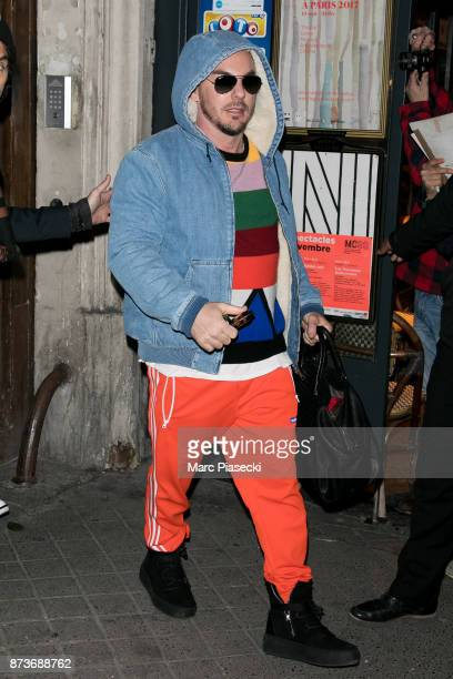 Shannon Leto of 'Thirty Seconds To Mars' leaves the 'C A Vous' TV studio on November 13 2017 in Paris France
