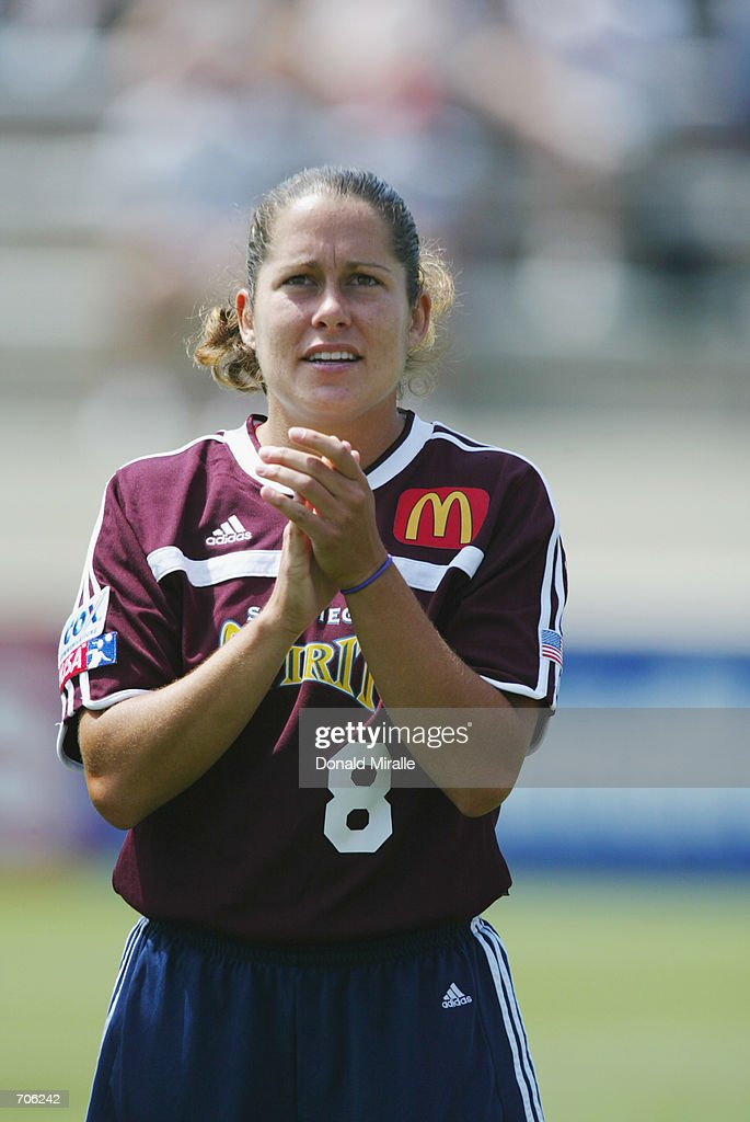 Shannon MacMillan of the San Diego Spirit during the WUSA game on June 1 2002 at Torero Stadium in San Diego California The Beat won 20