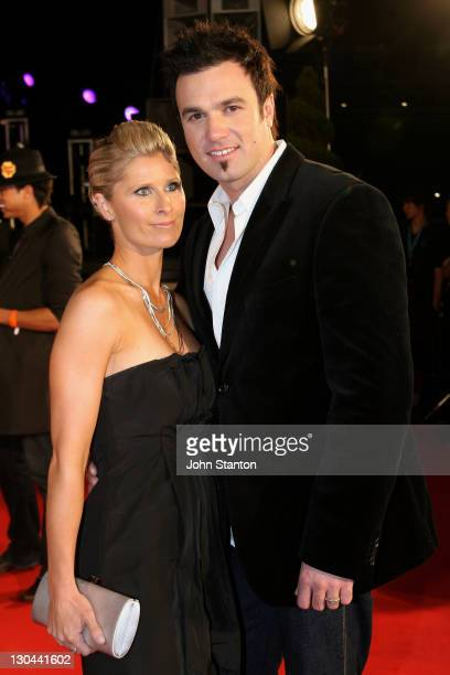 Shannon Noll and Wife during MTV Australia Video Music Awards 2007 Arrivals at Superdome in Sydney NSW Australia
