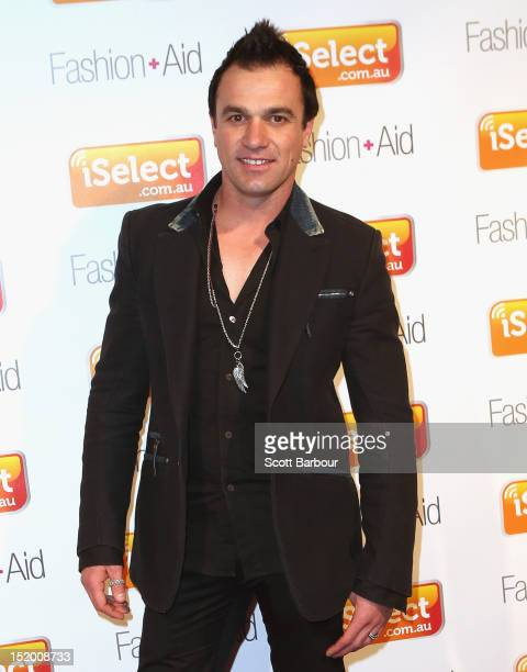 Shannon Noll arrives at iSelect Fashion Aid at Crown Palladium on September 15 2012 in Melbourne Australia