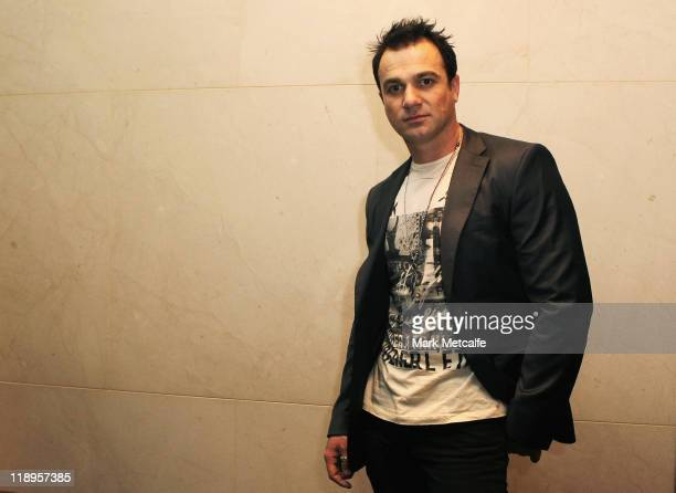 Shannon Noll poses at the Hilton Hotel ahead of Lady Gaga's exclusive 'Monster Hall' performance at Sydney's Town Hall on July 13 2011 in Sydney...