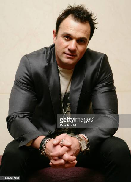 Shannon Noll poses during a preshow event at the Hilton Hotel ahead of Lady Gaga's exclusive 'Monster Hall' performance at Sydney's Town Hall on July...
