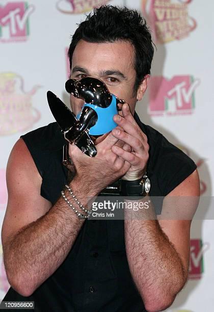 Shannon Noll winner Best Male Artist during 2005 MTV Australia Video Music Awards Press Room at Big Top Luna Park in Sydney New South Wales Australia