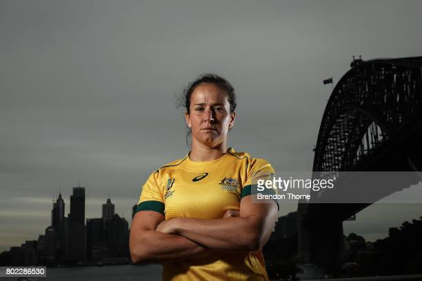 Shannon Parry of Australia poses during the Australian Women's Rugby World Cup Squad Announcement at Milsons Point on June 28 2017 in Sydney Australia