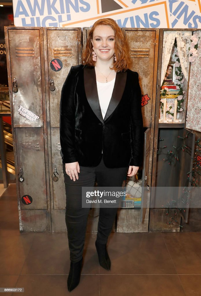 Shannon Purser a.k.a Barb hosts the Stranger Binge event at TopShop Topman, to mark the launch of Stranger Things 2 on Netflix on October 27, 2017 in London, England.