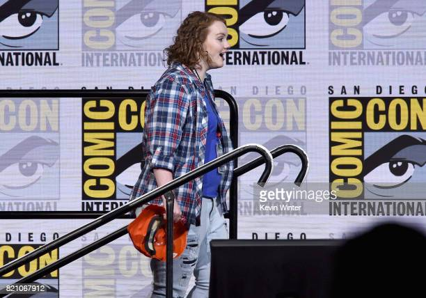 Shannon Purser attends Netflix's 'Stranger Things' panel during ComicCon International 2017 at San Diego Convention Center on July 22 2017 in San...