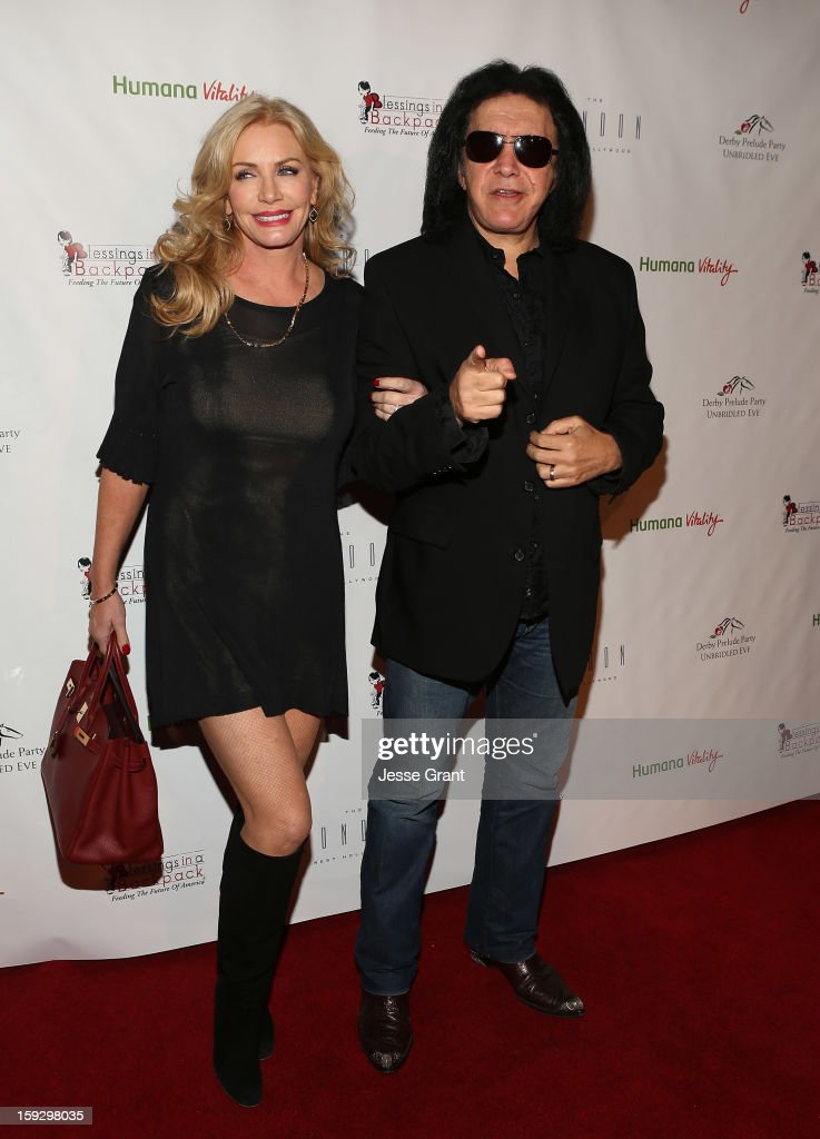 Shannon Tweed and Gene Simmons attend The 4th Annual Unbridled Eve Derby Prelude Party at The London West Hollywood on January 10, 2013 in West Hollywood, California.