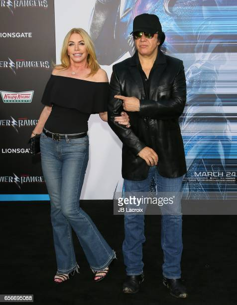 Shannon Tweed and Gene Simmons attend the premiere of Lionsgate's 'Power Rangers' on March 22 2017 in Westwood California