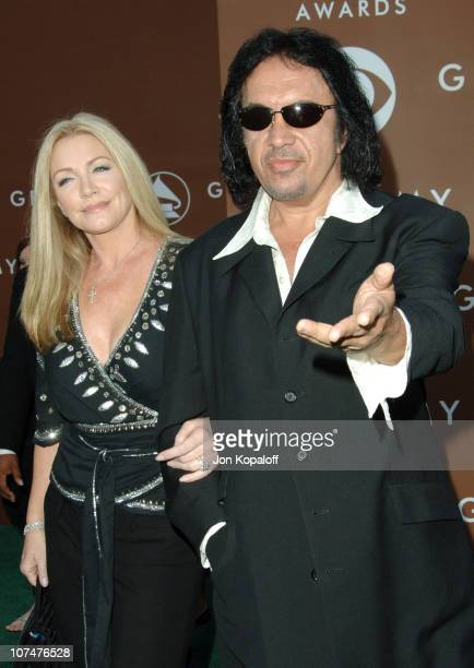 Shannon Tweed and Gene Simmons during The 48th Annual GRAMMY Awards Arrivals at Staples Center in Los Angeles California United States