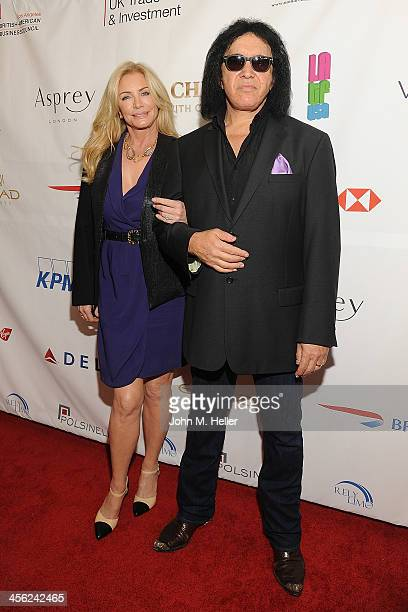Shannon Tweed and musician Gene Simmons attend the British American Business Council's 54th Annual Los Angeles Christmas Luncheon at the Fairmont...