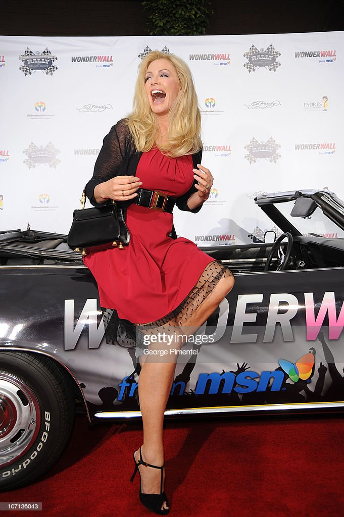 Shannon Tweed attends The Rally For Kids With Cancer Scavenger Cup's 'Qualifiers' Celebrity Draft Party at the Tropicana Poolside at The Hollywood...