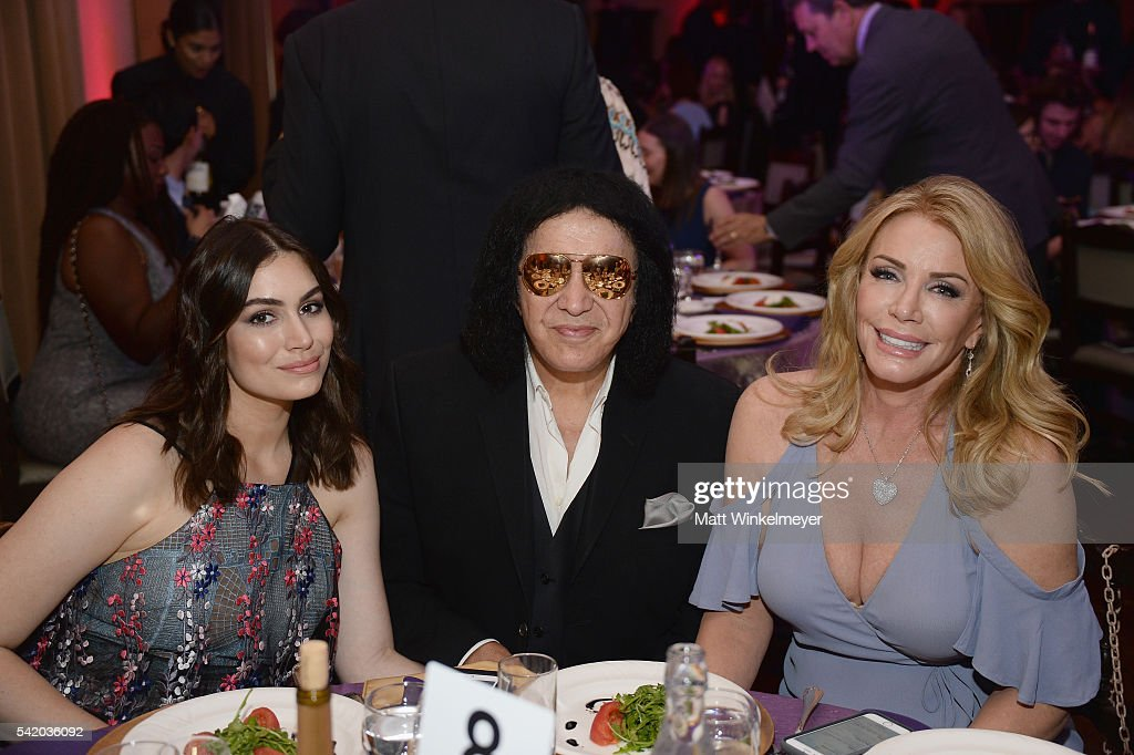 Shannon TweedSimmons Gene Simmons and Sophie TweedSimmons attend the Women of Influence Awards at The Wilshire Ebell Theatre on June 21 2016 in Los...