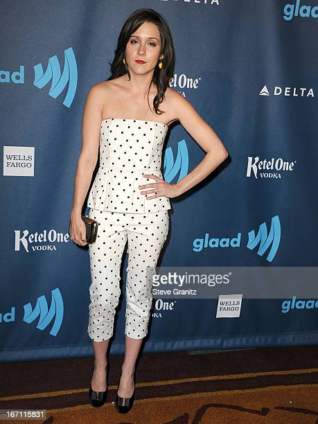 Shannon Woodward arrives at the 24th Annual GLAAD Media Awards at JW Marriott Los Angeles at LA LIVE on April 20 2013 in Los Angeles California