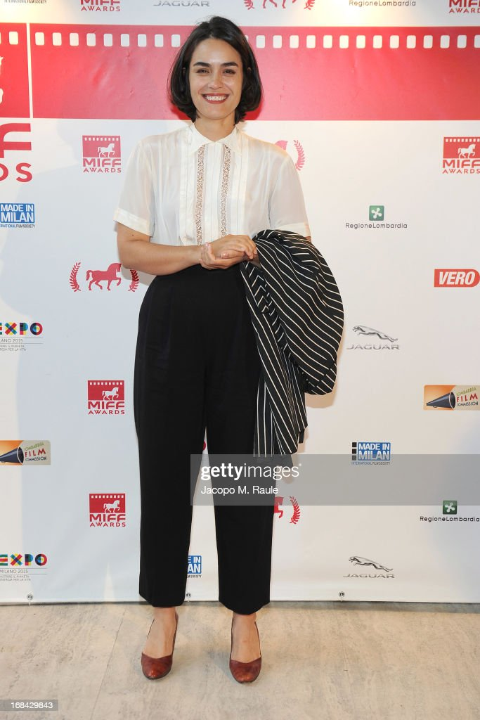 Shannyn Sossamon poses during the Italian premiere of the short film 'Desire' at ex Manifatture Tabacchi on May 9, 2013 in Milan, Italy.