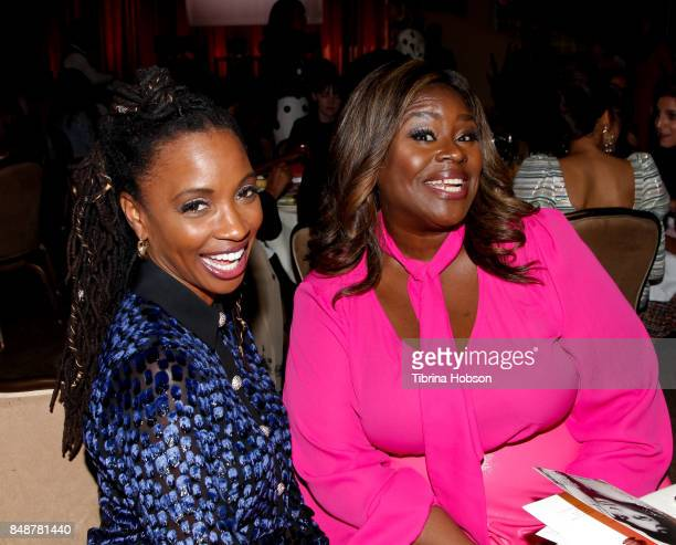 Shanola Hampton and Retta attend the 6th Annual Women Making History Awards at The Beverly Hilton Hotel on September 16 2017 in Beverly Hills...