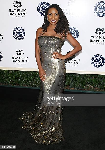 Shanola Hampton arrives at The Art of Elysium celebrating the 10th Anniversary held at Red Studios on January 7 2017 in Los Angeles California