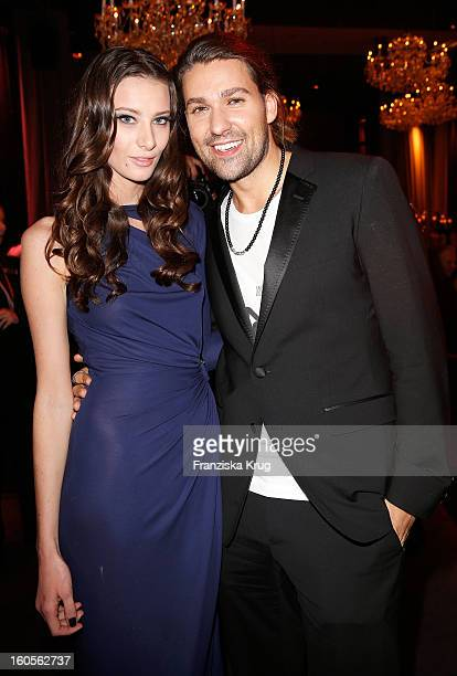 Shanon Hanson and David Garrett attend 'Goldene Kamera 2013' at Axel Springer Haus on February 2 2013 in Berlin Germany