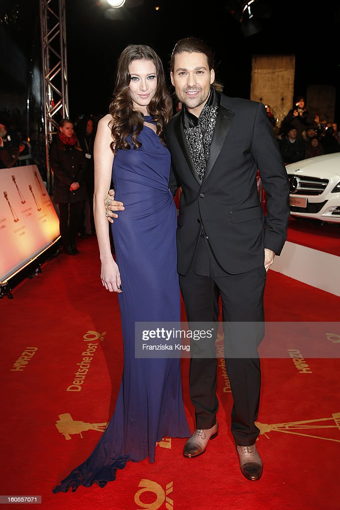 Shanon Hanson and David Garrett attend the 'Goldene Kamera 2013' on February 2, 2013 in Berlin, Germany.