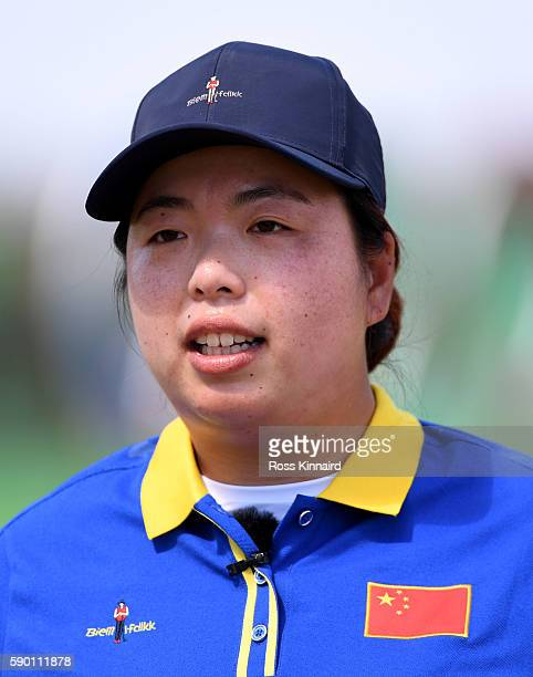 Shanshan Feng of China uring a practice round prior to the Women's Individual Stroke Play golf at the Olympic Golf Course at Olympic Golf Course on...