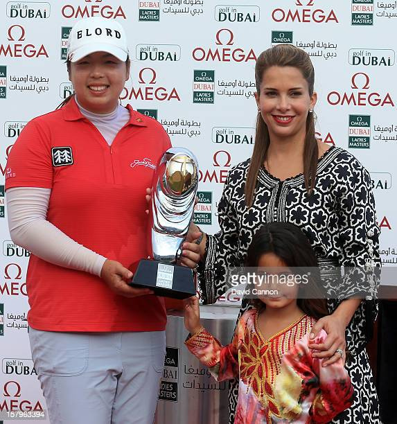 Shanshan Feng of China with HRH Princess Haya Bint Al Hussein wife of HH Sheikh Mohammed Bin Rashid Al Maktoum Vice President and Prime Minister of...