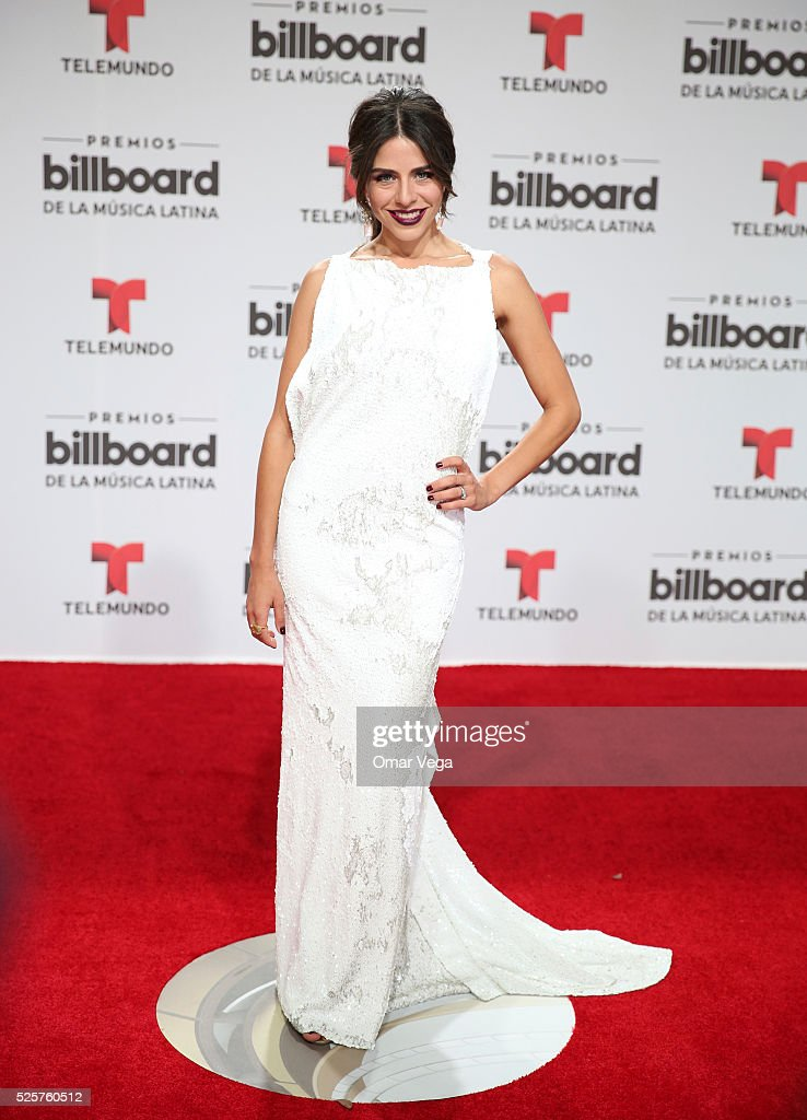 Shantal Lacayo poses during the red carpet of Billboard Latin Music Awards 2016 at Bank United Center on April 28, 2016 in Miami, United States.