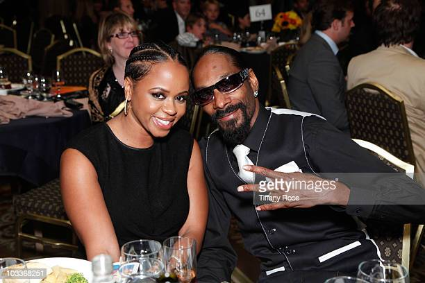 Shante Broadus and Snoop Dogg attend the 10th Annual Harold Pump Foundation Gala on August 12 2010 in Century City California