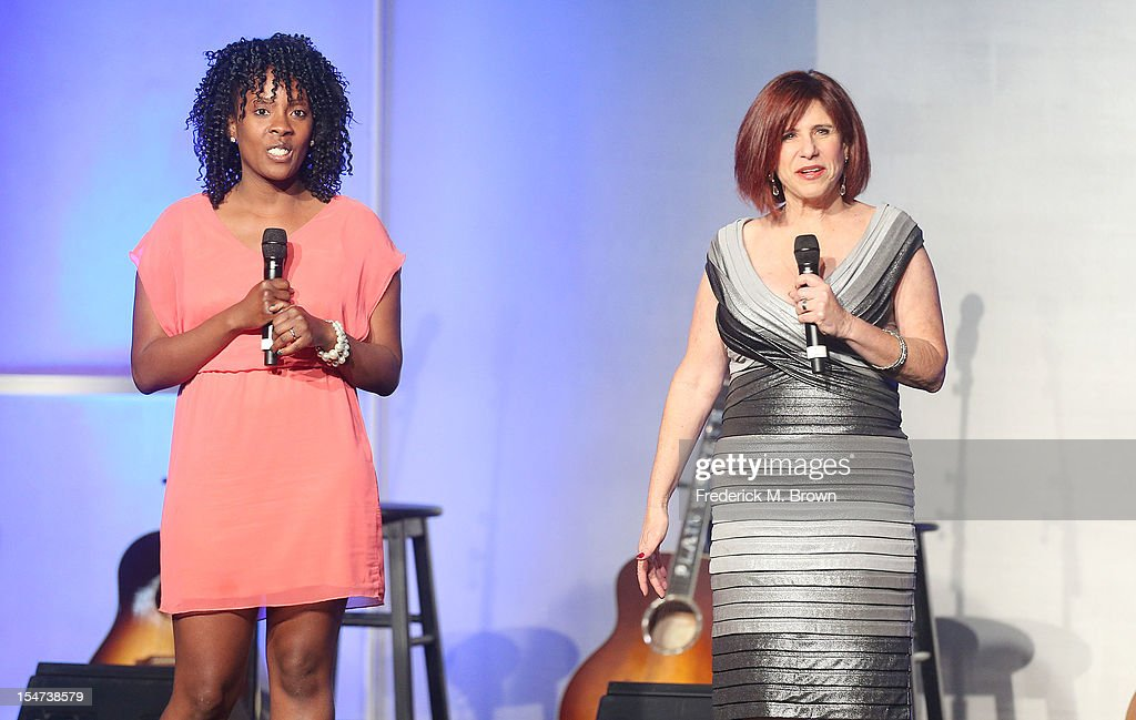 Shante Lewis (L) and Judy Carter speak during The Fulfillment Fund's STARS 2012 Benefit Gala at The Beverly Hilton Hotel on October 24, 2012 in Beverly Hills, California.