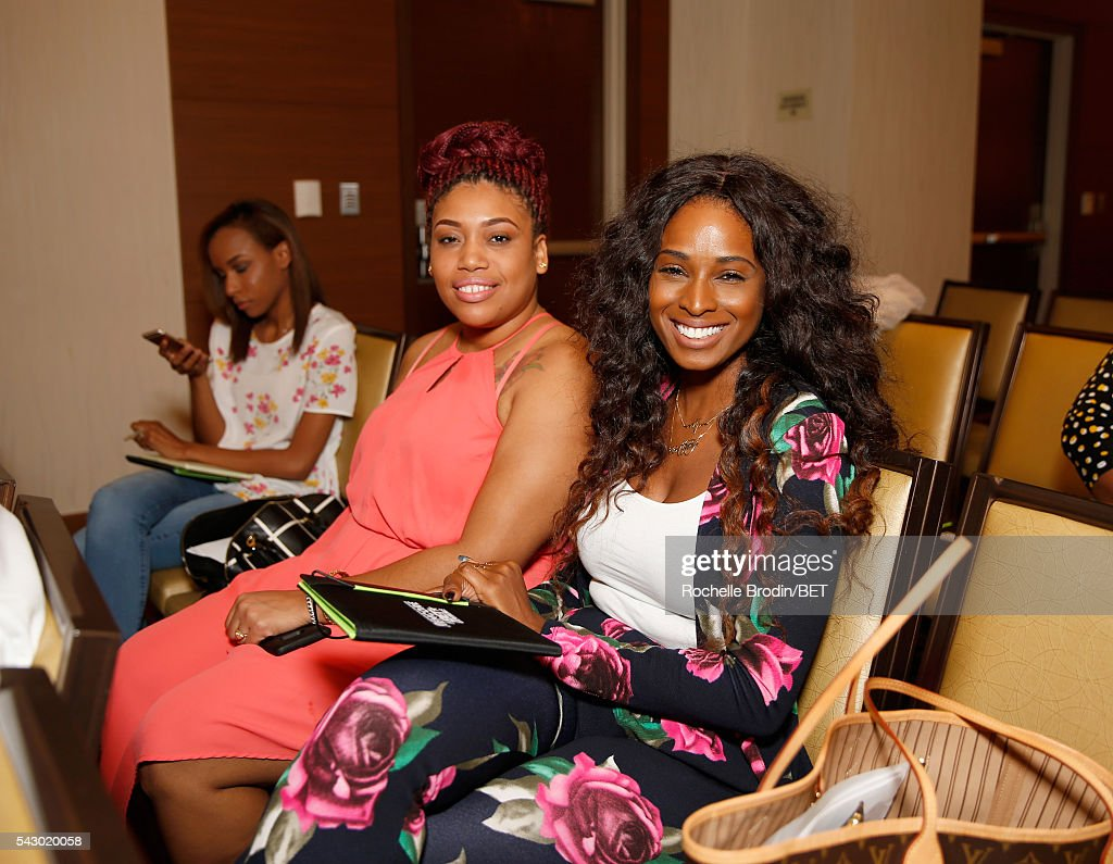 Shantel McCants (L) and Tiffany Black attend the ABFF Encore Master Class during the 2016 BET Experience at the JW Marriott Los Angeles L.A. Live on June 25, 2016 in Los Angeles, California.