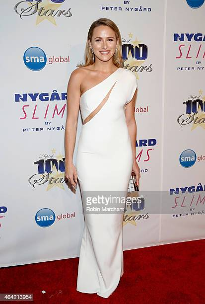 Shantel VanSanten attends the Norby Walters 25th Annual Night of 100 Stars Oscar Viewing Gala at The Beverly Hilton Hotel on February 22 2015 in...