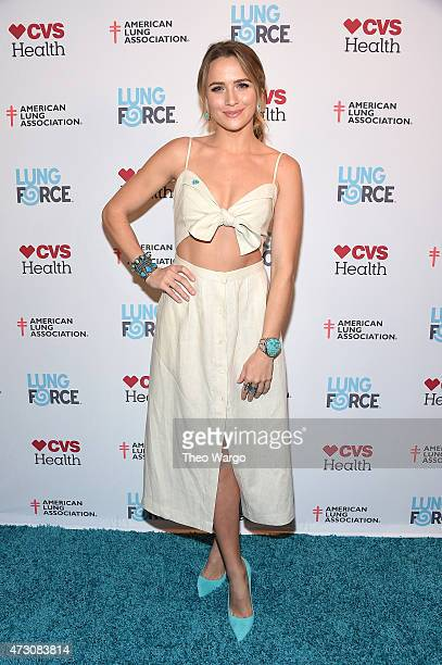 Shantel VanSanten steps out in New York City for the American Lung Association's LUNG FORCE as it launches its Share Your Voice initiative to raise...