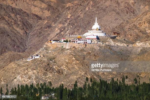 Shanti Stupa in Leh, Ladakh, India