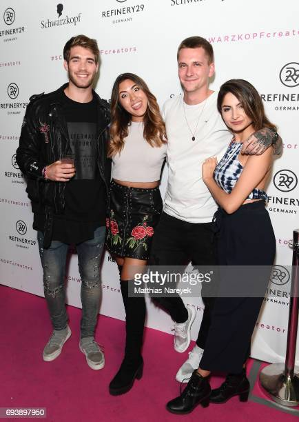 Shanti Tan Joan Janis Danner Willy Iffland and Ischtar Isik attend the Schwarzkopf x Refinery29 event at Bar Babette on June 8 2017 in Berlin Germany