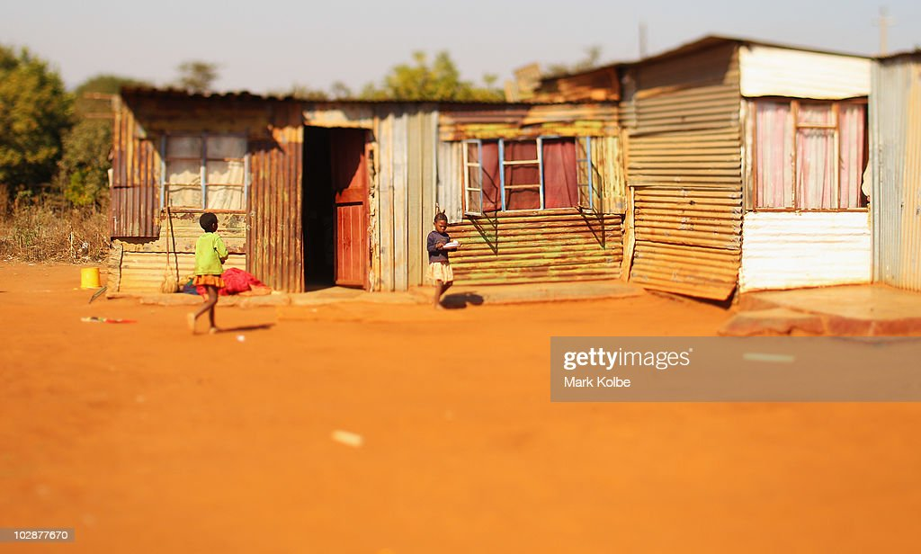 A shanty house is seen on June, 2010 in Rustenburg, South Africa.