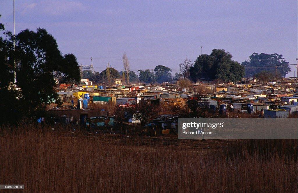 Shanty town in Soweto.