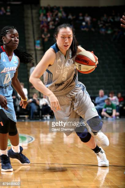 Shao Ting of the Minnesota Lynx drives to the basket during the game against the Atlanta Dream during the preseason WNBA game on May 5 2017 at Xcel...