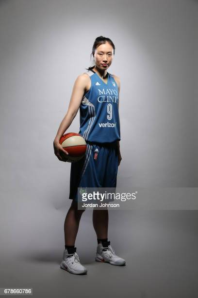 Shao Ting of the Minnesota Lynx poses for portraits during 2017 Media Day on May 1 2017 at the Minnesota Timberwolves and Lynx Courts at Mayo Clinic...