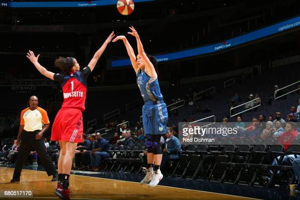 Shao Ting of the Minnesota Lynx shoots the ball against the Washington Mystics on May 8 2017 at Verizon Center in Washington DC NOTE TO USER User...